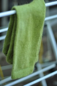 Hand Dyed Angora Socks