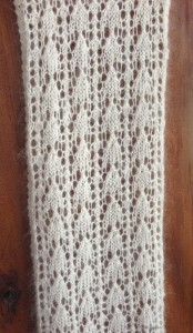 Another View of the Snowdrops Scarf